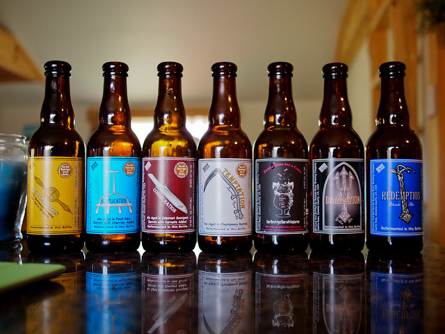 Horizontal of Russian River Beers