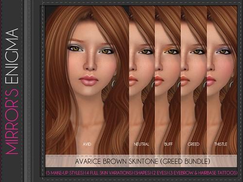 Avarice Brown Skintone Greed Bundle