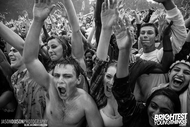 Crowd during Kaskade at Virgin Freefest 2013.
