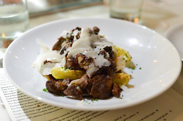Pan-Roasted Chicken Gizzards roasted beets, belgian endive, aged capra sarda