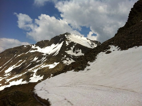 Abstieg: Blick zurück auf die Eidechsspitze