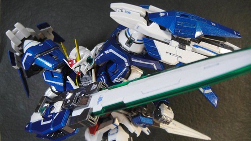 Custom Painted MG 00 Raiser Metal Build Color Scheme with Stand CF GundamPH (3)