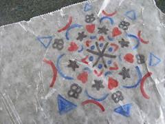 Wax Paper Mandala 1