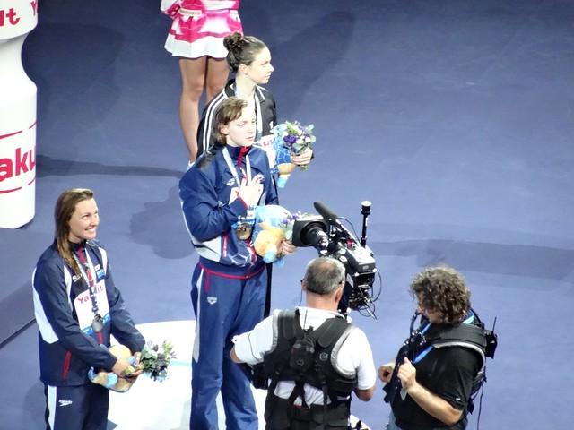 BCN2013 Women's 400 Free Medal Podium