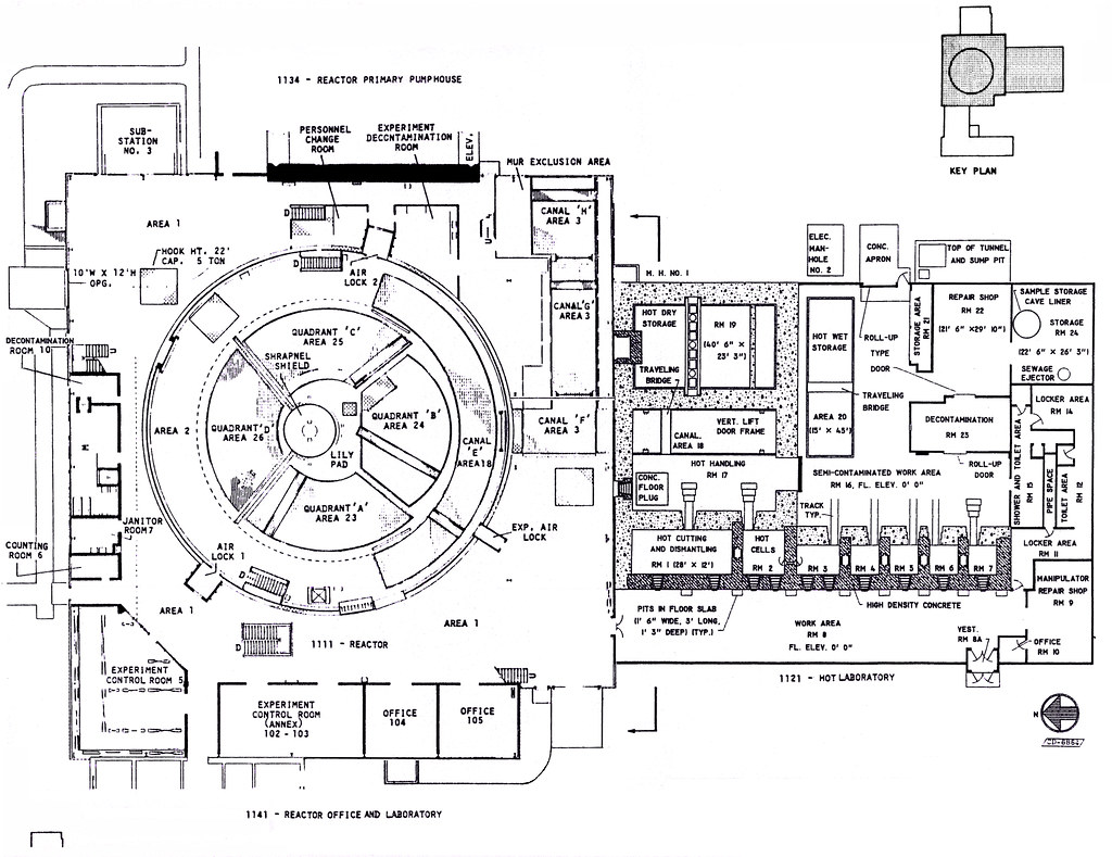 First Level Floor Plan For Reactor Building