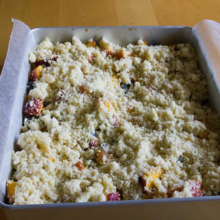 Peach Blueberry Crumb Bars