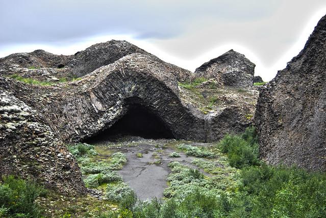 """Hljodaklettar - Jökulsárgljúfur National Park - """"Kirkjan"""" - CC Roser Martínez"""