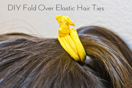 DIY Fold Over Elastic Hair Ties
