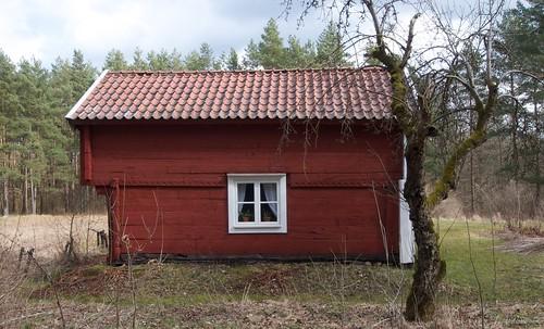 Högloftsstuga, high loft and lower rooms