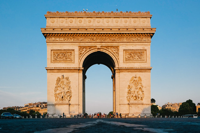 Arc de Triomphe, Paris during the golden hour