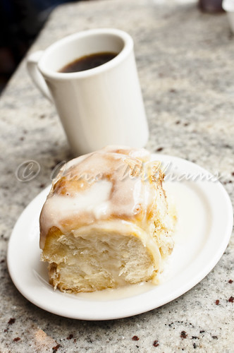 Cinnamon Roll and Coffee