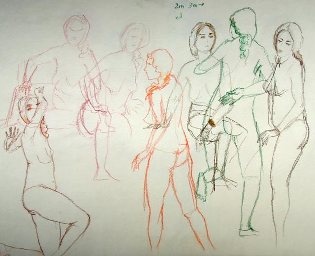 Quick sketches, short poses