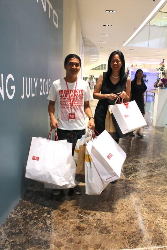 Yvette Fernandez shopping