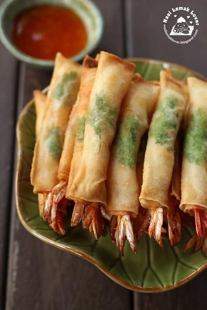Nasi Lemak Lover Deep fried Spring Roll Prawns
