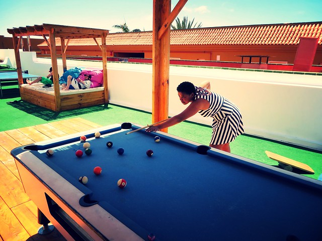 pool, planet surf camps, surf house, playing billiards, alyssa james