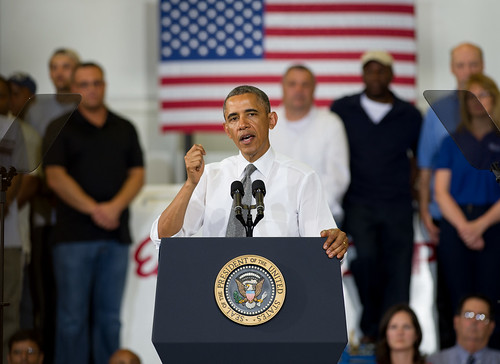 President Obama Visits Ellicott Dredges on Jobs Tour