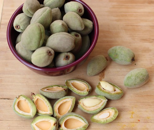 Green almonds 2