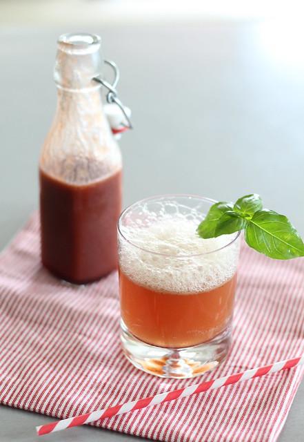 Cherry-basil soda