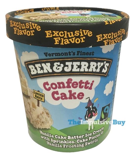 Ben & Jerry's Limited Batch Confetti Cake Ice Cream