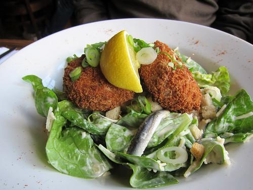Salmon Fishcakes Caesar Salad