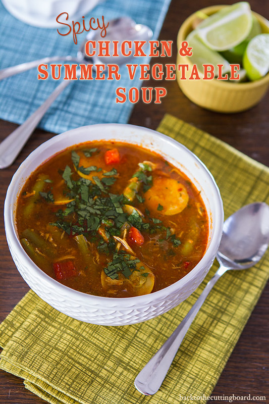 Spicy Chicken and Summer Vegetable Soup