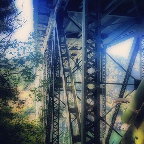 Under the Deception Pass Bridge by @MySoDotCom