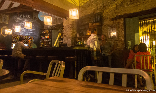 Inside Demente Tapas bar in the Getsemani neighborhood