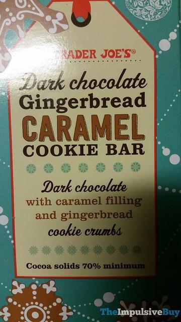 Trader Joe's Dark Chocolate Gingerbread Caramel Cookie Bar