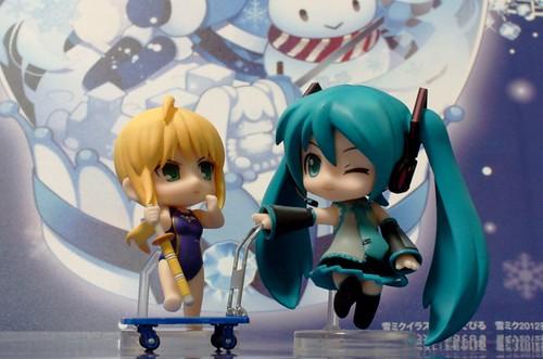 Saber and Miku
