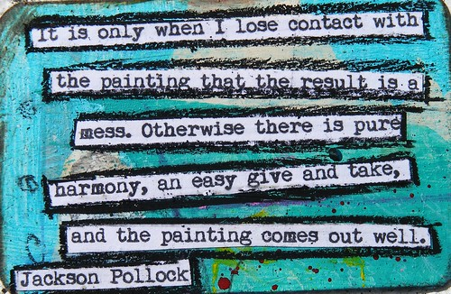 Jackson Pollock Creativity Quote