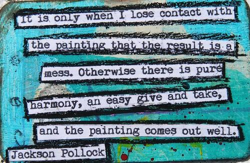 Jackson Pollock Creativity Quote