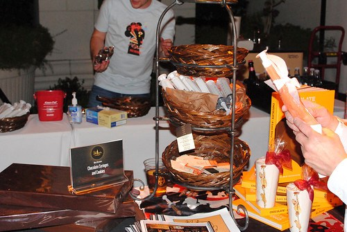 Max Brenner chocolate syringes and cookies