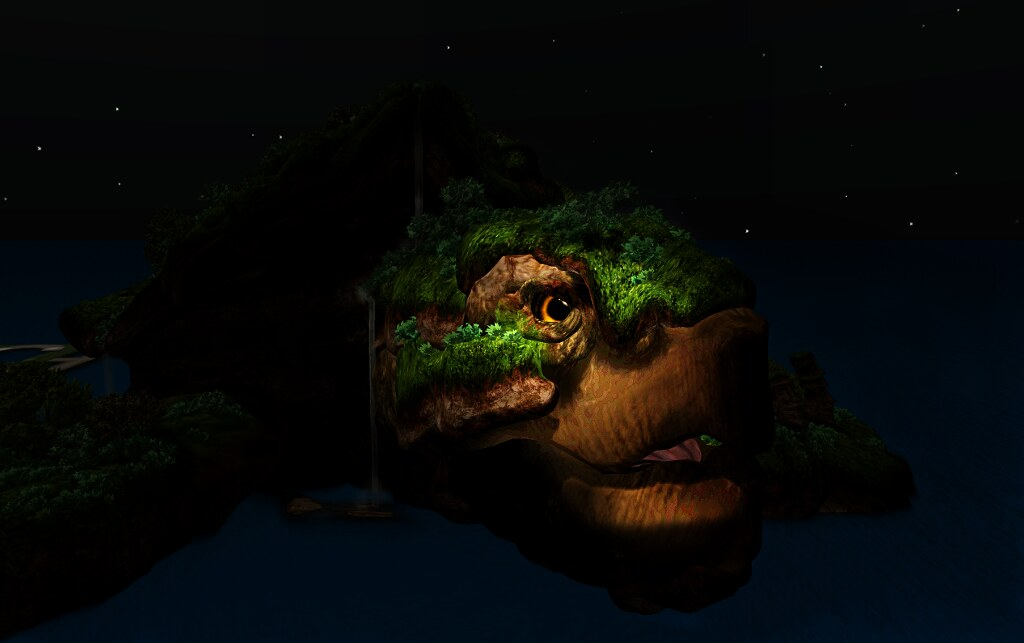 The Turtle Island's face