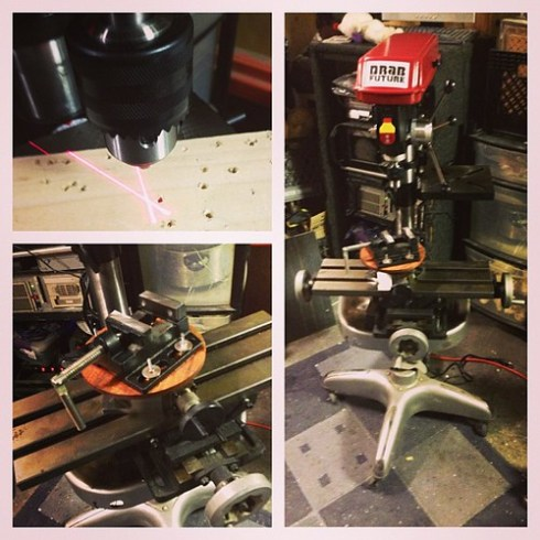 My custom mini mill drill press with fricken LASERS