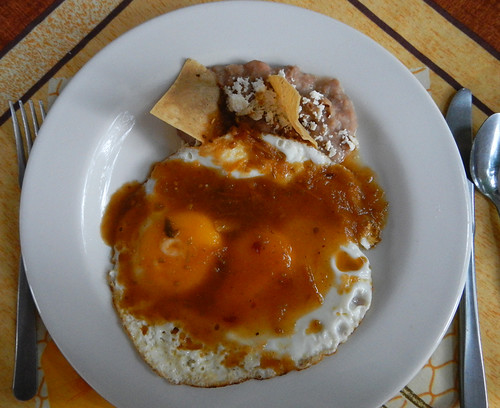 Breakfast in Mexico is Huevos Rancheros