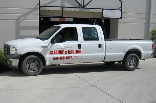 Cleanup & Hauling truck