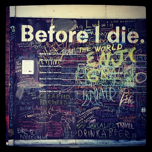 "Candy Chang's ""Before I Die"" project"