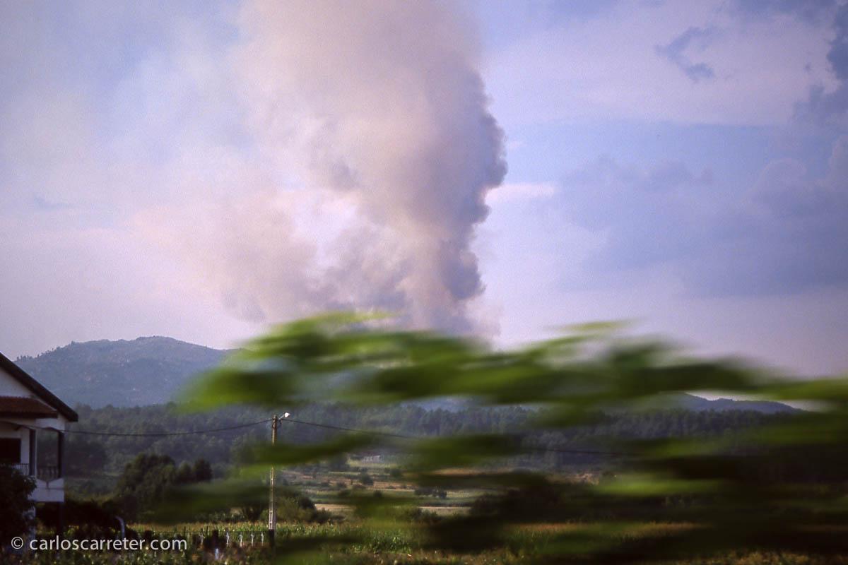 Incendios en el Parque Nacional Peneda Geres