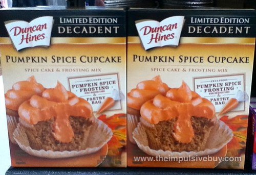 Duncan Hines Limited Edition Decadent Pumpkin Spice Cupcake