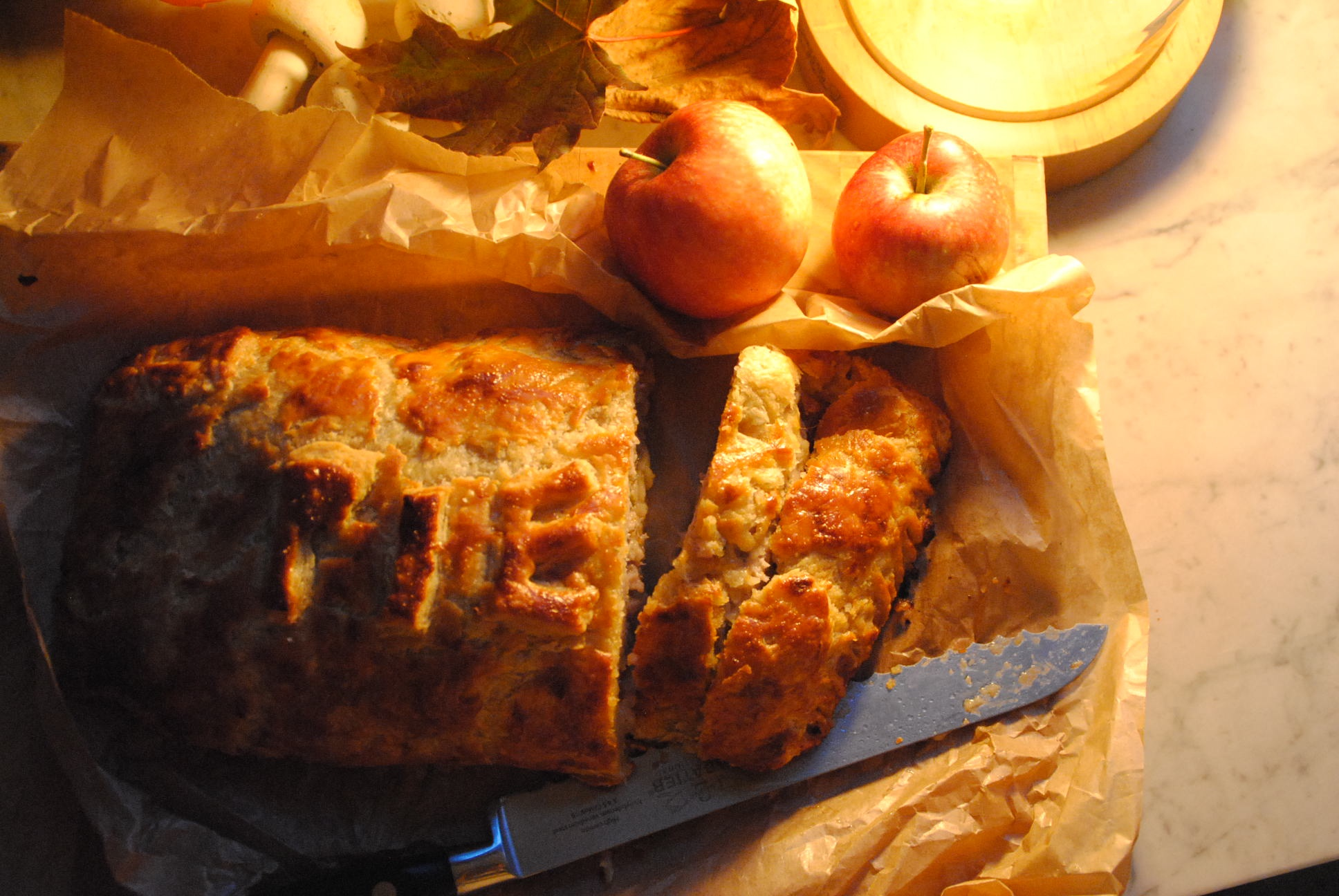 Sausage Apple Pie Winter Warmer Rough Puff