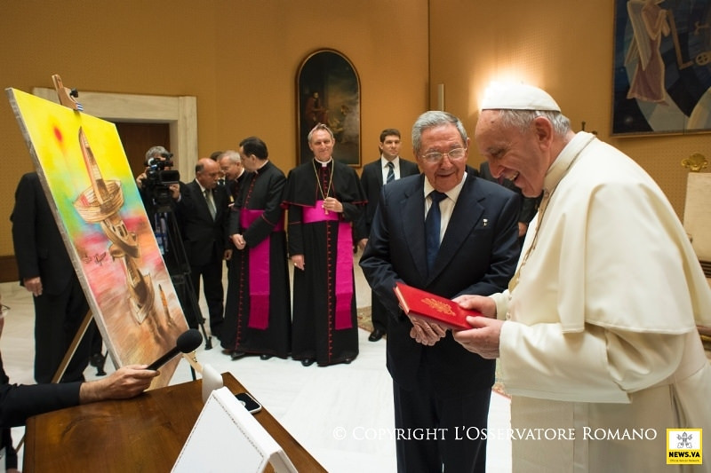 Pope Francis receives the President of Cuba
