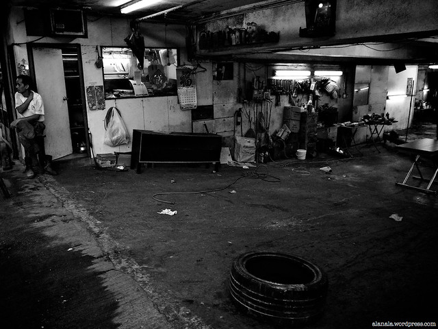No business yet, empty garage