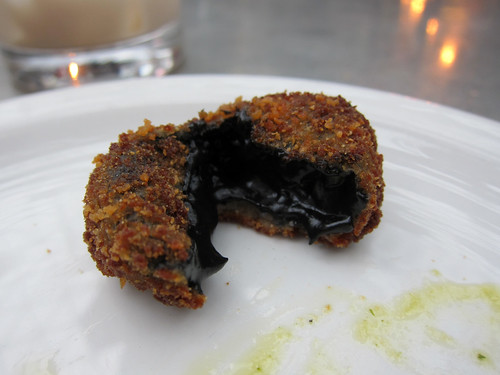 Inside the Squid Ink Croqueta