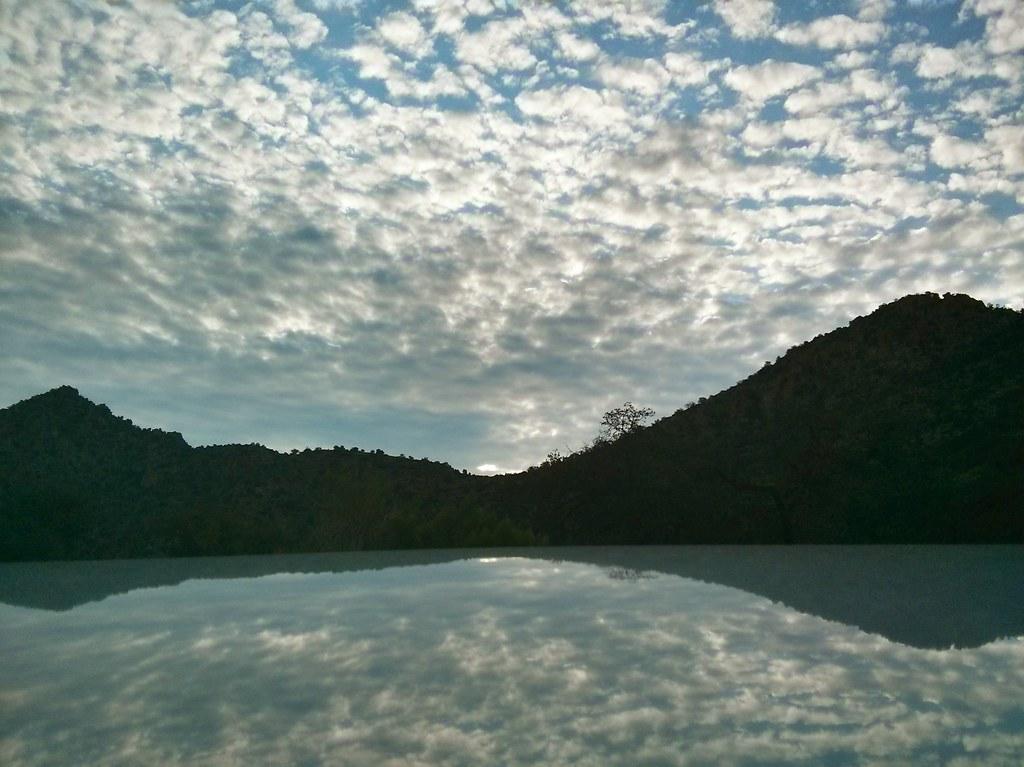 1308 AM Reflection Molino Basin headed to Box Camp