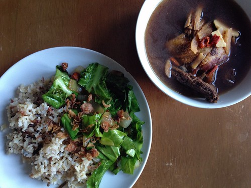 """""""Revitalising Tonic"""" Chicken Soup + Spring Greens + Wild Rice"""