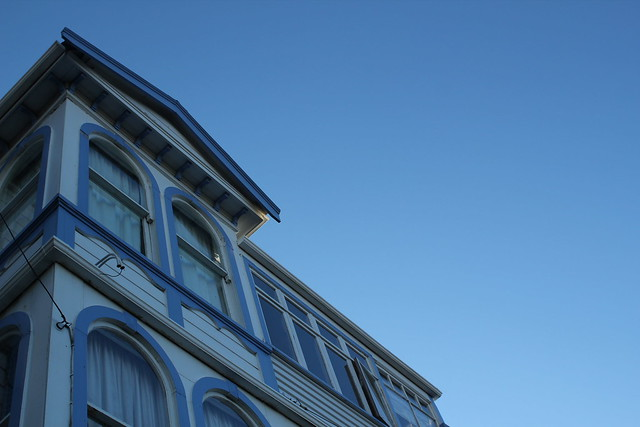 Friday: blue skies and old buildings