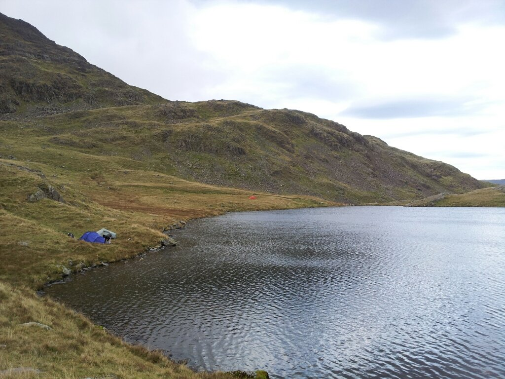 Last night's camp at Sprinkling Tarn