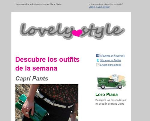 Lovely style newsletter