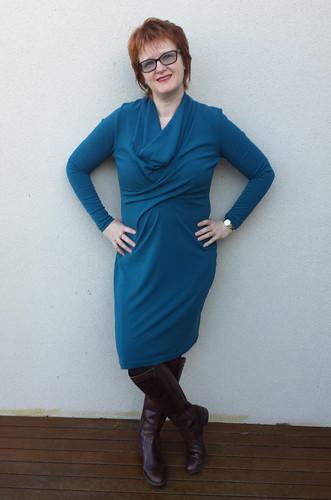 StyleARC Marita dress in stretch crepe