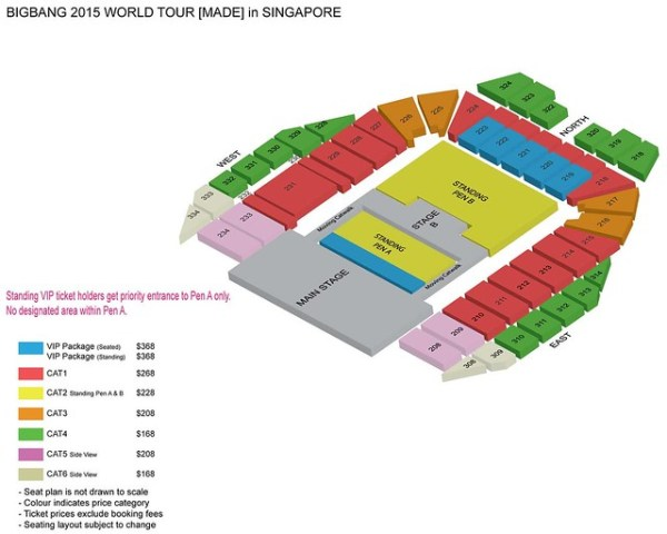 BIGBANG WORLD TOUR MADE IN SINGAPORE SEATING PLAN